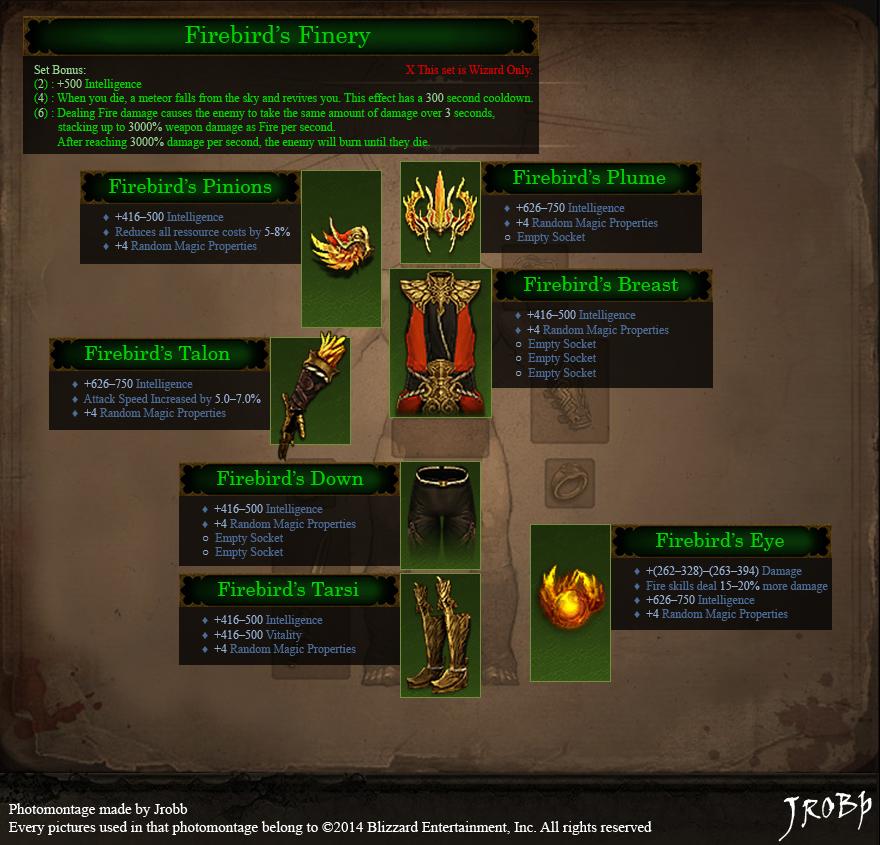 Firebird's Finery сет из Diablo-3